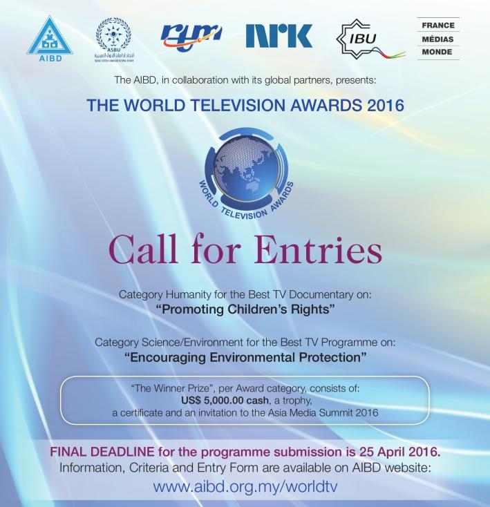 World TV Awards 2016 – Extended and Final Deadline
