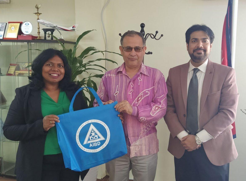 AIBD Director Meets Ambasssador of Nepal